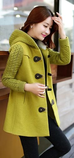 Cute Cashmere Korean Coat YRB0578