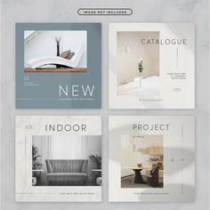Social media post minimal furniture them. Web Design, Layout Design, Catalog Design, Catalog Layout, Instagram Design, Interior Design Instagram, Social Media Design, Social Media Template, Grafik Design
