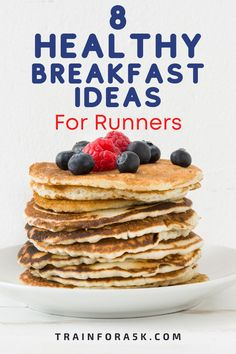If you have got into running to lose weight or to be healthier you my friend, are on the right path. In addition to running, the foods you consume can help you reach your goal. Breakfast is the most important meal of the day especially after you run in the morning.After my early runs I realized that it is the first step in eating healthy and since I was out burning calories, I needed to put good calories back in.I found these 8 recipes to be delicious. Low Carb Breakfast Easy, Healthy Breakfast Recipes, Snack Recipes, Eating Healthy, Banana Protein Pancakes, Paleo Pancakes, Healthy Gluten Free Recipes, Real Food Recipes, Runners Food