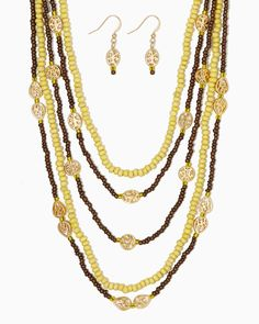 charming charlie | Lea Beaded Necklace Set | UPC: 400000132709 #charmingcharlie