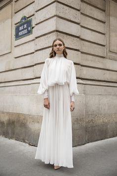 cf38ef051a8 SOFIA Dress from the 2017-18 Evyatar Myor bridal collection ○ chiffon long  sleeve delicate