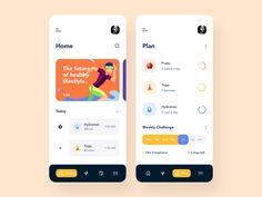 Challenges App by Afterglow on Dribbble - Design Workshop Ui Design Mobile, App Ui Design, User Interface Design, Design Web, Form Design, Graphic Design, Lightroom, Photoshop, Windows Xp