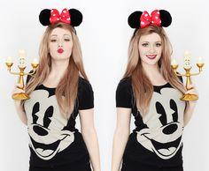 Disney Tag | Denise Joanne | Fashion & Disney Blog | Disney girl, Mickey t-shirt, Lumiere, Minnie Ears, Cute