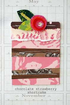 yum...sewing on paper again! LOVE!