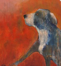 Risultati immagini per paintings of animal lovers Dog Sounds, Bow Wow, Colorful Paintings, Dog Portraits, Animal Paintings, Dog Art, Medium Art, Illustration Art, Illustrations