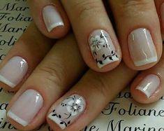 French Nail Designs, Pretty Nail Designs, Colorful Nail Designs, Toe Nail Designs, Love Nails, Pretty Nails, My Nails, Classy Nails, Simple Nails