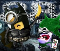 Batman Minion &The Joker Minions. Minions Images, Cute Minions, Minion Pictures, Minions Despicable Me, Minions Quotes, Funny Pictures, Minion Stuff, Minions Minions, Minion Superhero