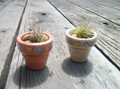 Native American Inspired Mini Planters for Home by TLCCeramicsIL