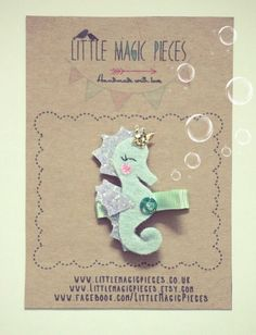 Princess Seahorse Hair Clip Summer Under The por LittleMagicPieces