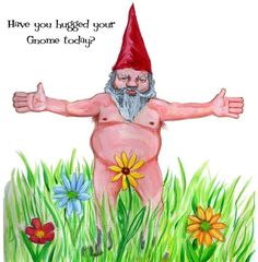 Horny Gnome greeting card by GlenIllustrates on Etsy, $3.00
