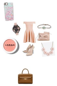 """Special Day"" by antoniaroxana ❤ liked on Polyvore featuring beauty, Maison Margiela, BROOKE GREGSON, Boohoo, Casadei, Olivia Burton, LORAC, J.Crew and Casetify"