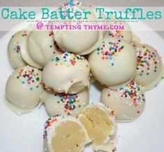 Cake Batter Truffles- Jordan would love these.