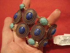 LUCKY BRAND Jewelry Blue Shades Cuff Bracelet #LuckyBrand #Cuff