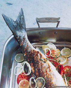 Roasted Black Sea Bass Recipe