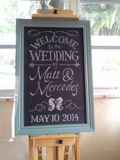 Wedding entry chalkboard