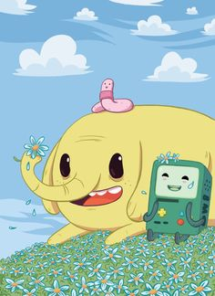 Bmo, Tree trunks and Shelly - Adventure Time