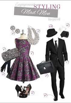 mad men party decorations | Mad Men Styled Engagement Wear