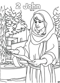 2 John Free Bible Book Coloring Pages In Pdf Format