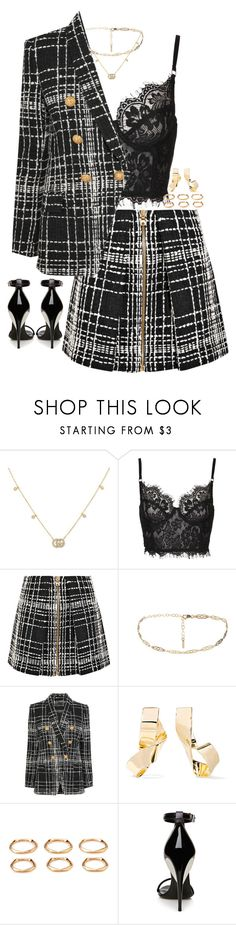 """Untitled #923"" by sam-laurent ❤ liked on Polyvore featuring Gucci, Balmain, Jennifer Fisher, Forever 21 and La Perla"