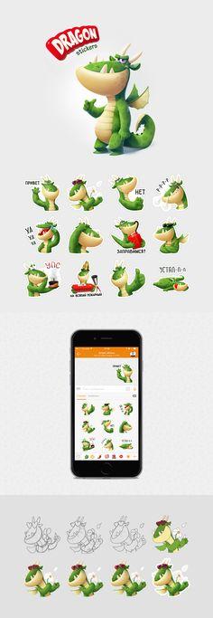 Dragon stickers (for ok.ru), Персонаж © АнтонКурятников