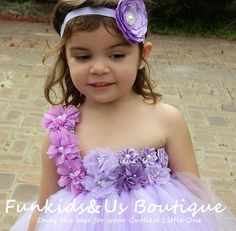 Lavander Lilac Flowergirl Tutu Dress by FunkidsandUsBoutique