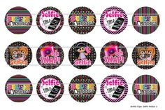 15 Selfie Addict Digital Download for 1 Bottle Caps by MaddieZee, $1.25