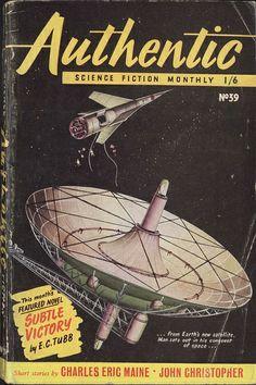 Authentic Science Fiction, Nov 1953, cover by Davis