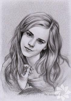 Ünlülerin kara kalem çizimleri #EmmaWatson