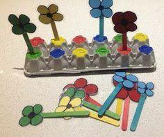 bloementuintje en meteen ook de kleurtjes oefenen.