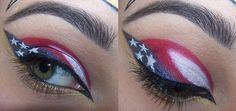 Wonder Woman created by mjs06 on Makeup Geek (Also thought this would be a good 4th of July look)