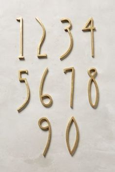 Gift NEW HOMEOWNERS: Hand-Welded House Number #anthrofave