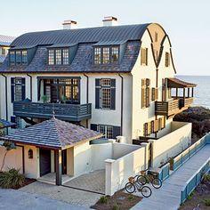 Rosemary Beach Dutch-Colonial - Inviting Florida Homes - Coastal Living Coastal Homes, Coastal Living, Eco Casas, Rosemary Beach Florida, Dutch Colonial, Villas, Florida Home, My Dream Home, Exterior Design