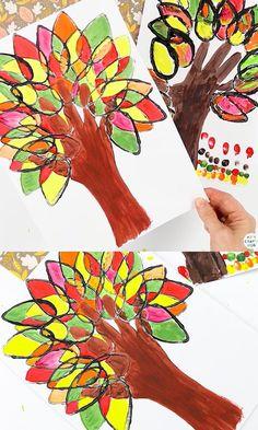 Easy Fall Crafts, Fall Crafts For Kids, Craft Kids, Autumn Art Ideas For Kids, Winter Craft, Art Education Projects, Fall Art Projects, Kids Education, 2nd Grade Crafts