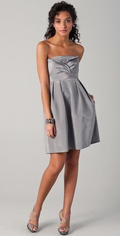 Love the grayish silver for my bridesmaids!  So many flower options to go with this....