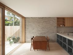 Bayston road by Al-Jawad Pike // Al-Jawad Pike combines brick, concrete and timber for restrained London home extension Arch Interior, Interior And Exterior, Interior Decorating, Interior Design, Brick Arch, Brick Wall, London Architecture, Interior Architecture, House Extension Design