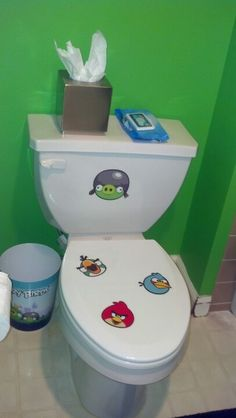 Kids Angry Bird Bathroom Fun