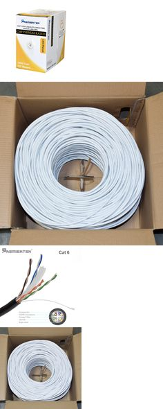 100/% COPPER CAT5E White Cable 1000FT 350MHZ 24AWG CMR Stranded Network NOT CC A