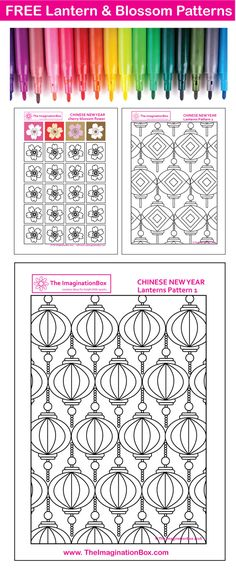 The 668 best chinese new year art for kids images on pinterest in encourage kids to get creative and celebrate chinese new year these free printable pattern templates maxwellsz
