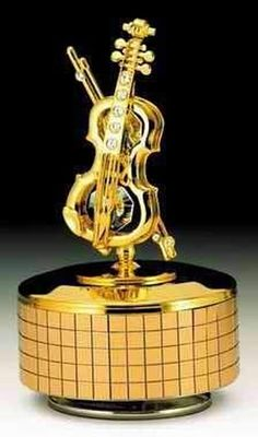 Cello Gold Music Box