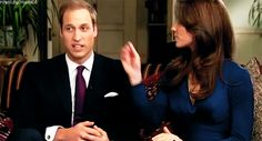 Kate taking care of her Prince. Cute interaction between them in this interview after the engagement announcement!