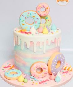 Birthday Party for Girls Two Sweet Birthday Party Ideas donuts Birthday Donuts birthday party Girls Ideas Party Sweet 2nd Birthday Party For Girl, Pretty Birthday Cakes, Donut Birthday Parties, Birthday Ideas, Donut Birthday Cakes, 7th Birthday Party For Girls Themes, One Year Birthday Cake, Art Birthday Cake, 9th Birthday
