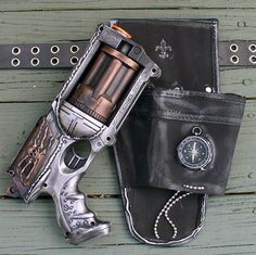 Steampunk Nerf Gun with Holster via Etsy!  Freaking sweet!