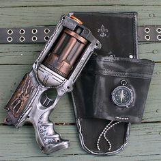 Steampunk Nerf Gun with Holster via Etsy!  Freaking sweet!