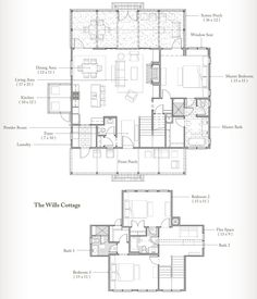 Second floor plan, Palmetto Bluff Dog Trot House, Palmetto Bluff, Upstairs Bedroom, Earthship, Coastal Homes, House Floor Plans, Second Floor, Future House, Cottage