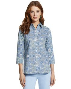 Chico's Effortless Danise Printed Shirt #chicos