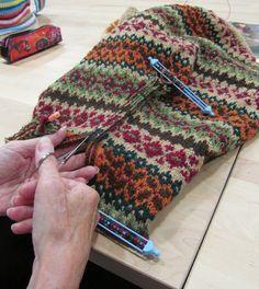 fair isle вязание техника разрез