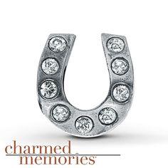 Charmed Memories Crystal Infinity Charm Sterling Silver cmX0Mk7g