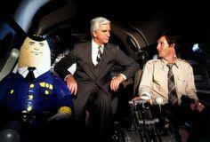 Otto Pilot, Leslie Nielsen and Robert Hays in the hilarious comedy, Airplane Stevie Wonder, O Grande Lebowski, Robert Hays, Comedy Movies On Netflix, Movie Film, Netflix Uk, Cinema Film, Funny Movies, Bbc