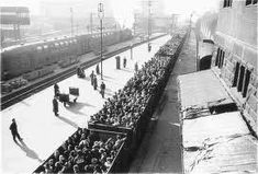 8,600 people were brought, on average to Aushwitz each day.