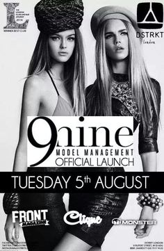 9 nine model management launch party at DSTRKT LONDON ♣   +447545311619 for guestlist/tables Ace of Clubs Team ♣
